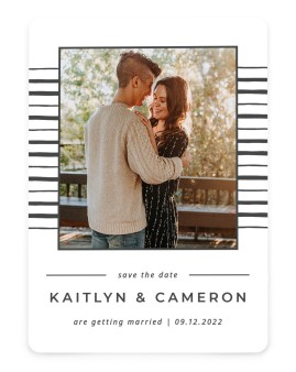 Love on the Line Save the Date Cards