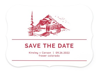Mountain Romance Save the Date Cards