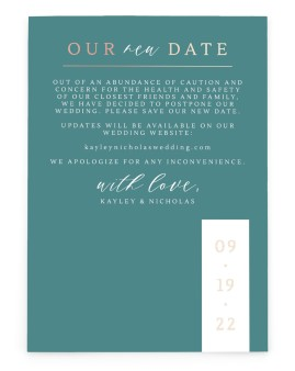Wedding Date Change Change the Date Cards