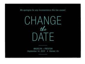 Romantic Change Change the Date Cards
