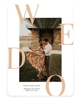 Boldly We Do Save the Date Cards