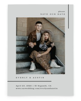 Mod Lines Save the Date Cards