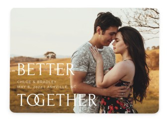 Joined Together Save the Date Cards