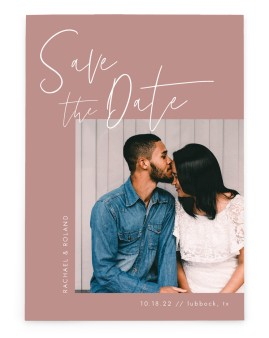 Stylish Script Save the Date Cards