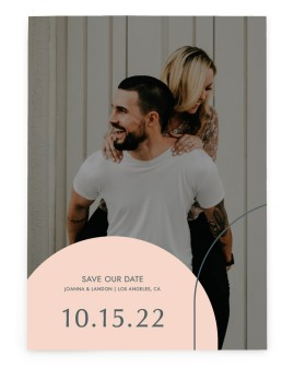 Mod Shapes Save the Date Cards