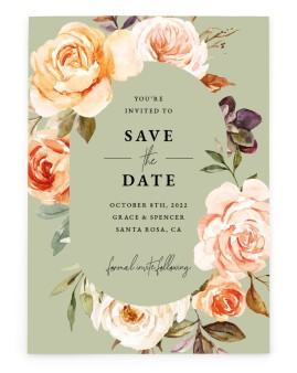 Romantic Garden Save the Date Cards