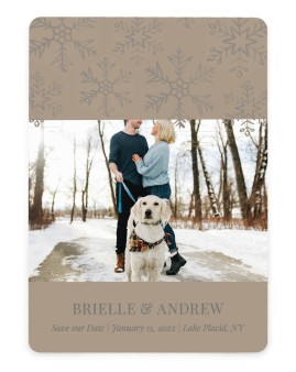 Sweet Snowflakes Save the Date Cards