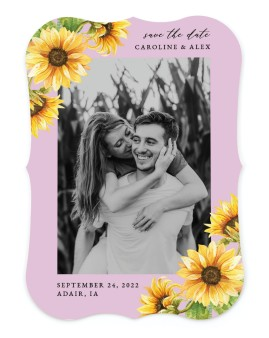 Sunflower Bliss Save the Date Cards