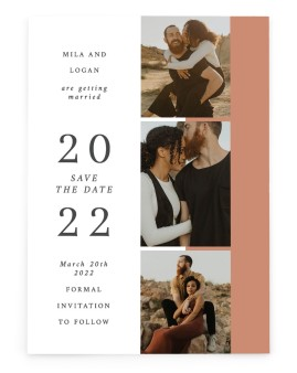 Stacked Hearts Save the Date Cards