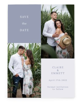 Quaint Quad Save the Date Cards