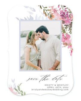 Blushing Bouquet Save the Date Cards