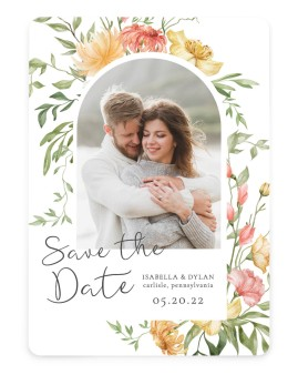 Secluded Blooms Save the Date Cards