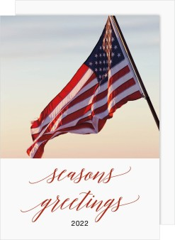 America the Beautiful Business Holiday Cards