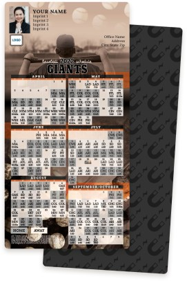 Giants Baseball Schedule Magnets