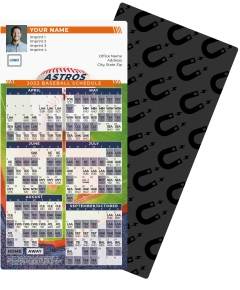 Astros Baseball Schedule Magnets