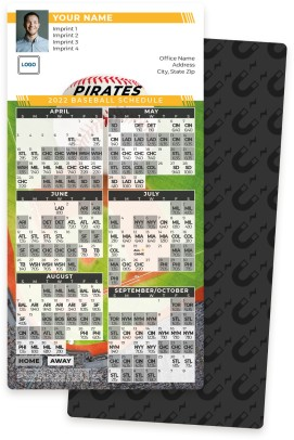 Pirates Baseball Schedule Magnets
