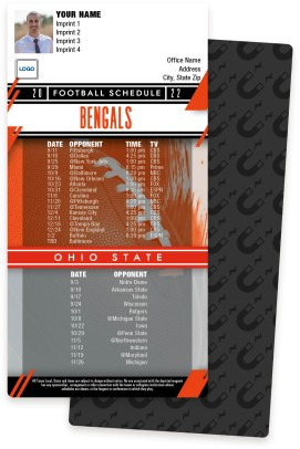 Bengals + Ohio State Football Schedule Magnets
