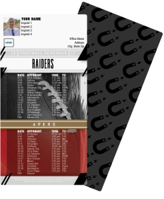 Raiders + 49ers Football Schedule Magnets