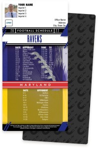 Ravens + Maryland Football Schedule Magnets