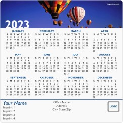 Hot Air Balloon Banner Full Magnet Calendars