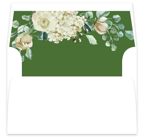 Divine Romance Wedding Invitation Envelope Liners