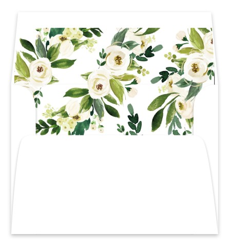 Wedding Florals Wedding Invitation Envelope Liners