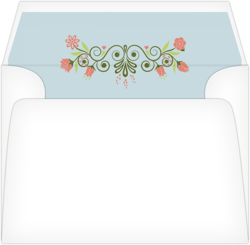 For You With Love Wedding Invitation Envelope Liners