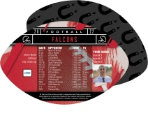 Falcons Football Schedule Magnets