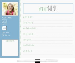 Weekly Menu Memo Board Calendars