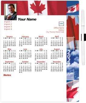 Canadian Flag Mosaic Memo Board Calendars