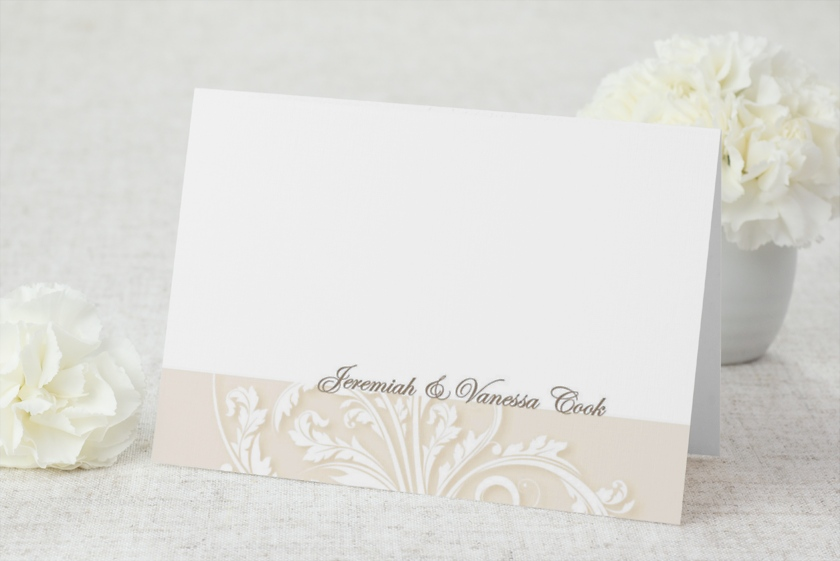 Antique Filigree Thank You Cards