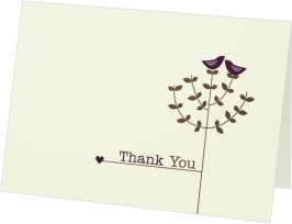 Tree Top Love Thank You Cards