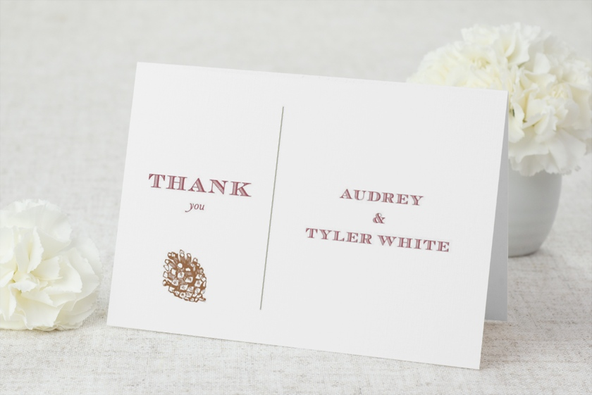 Evergreen Christmas Thank You Cards