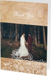 Rustic Woodgrain Thank You Cards