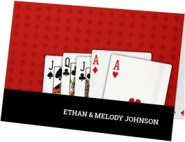 Two of a Kind (Playing Cards) Thank You Cards