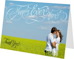 Happily Ever After Thank You Cards