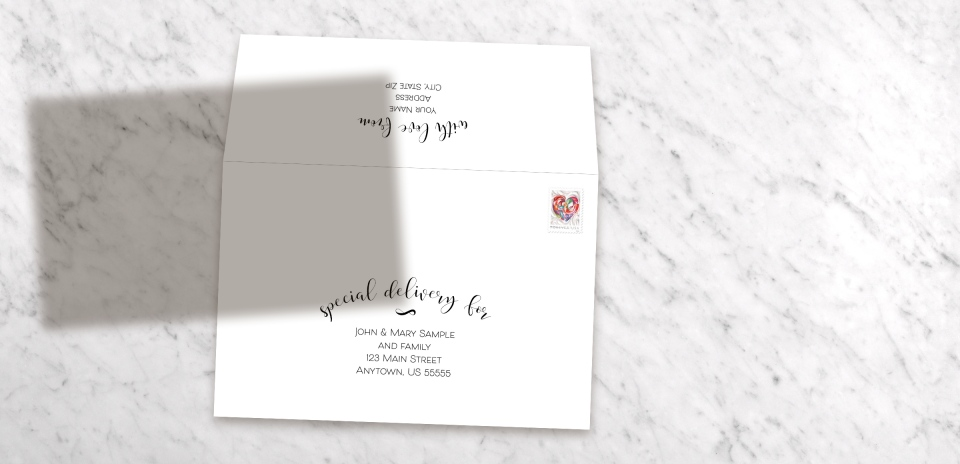Invitation with Optional Mailing Services