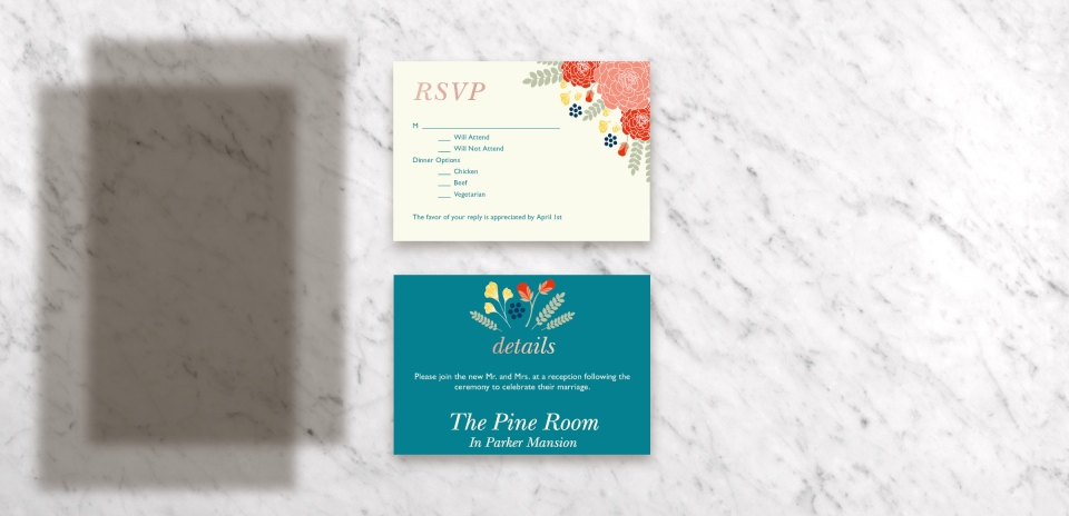 Invitation with Optional Products