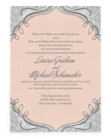 Lace It Up Rectangle Invitations