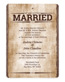 Wanted for Life Rounded Invitations