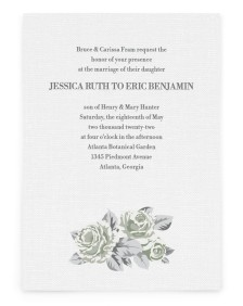Romantic Rose Rectangle Invitations