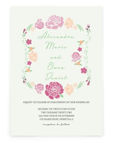Vintage Bloom Rectangle Invitations