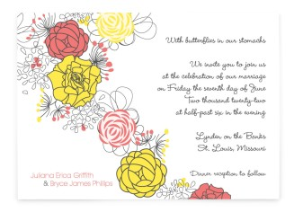 Botanical Cascade Rectangle Invitations