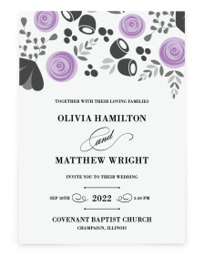 Blushing Blooms Rectangle Invitations