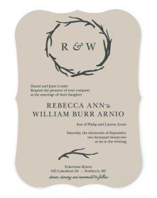 Rustic Boughs Bracket Invitations