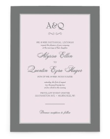Opulence Rectangle Invitations