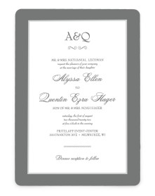 Opulence Rounded Invitations