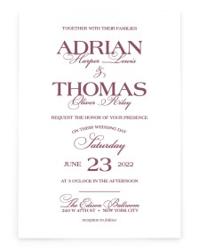 Formal Statement Rectangle Invitations