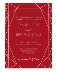 Luxe Gem Rectangle Invitations
