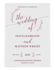 Naturally Leaves Rectangle Invitations